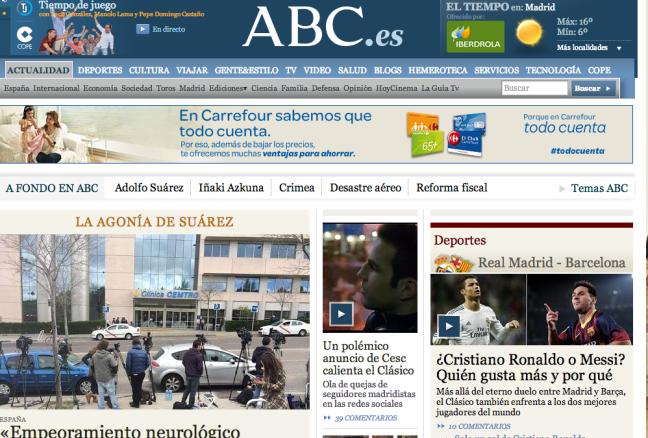 Portada digital de ABC