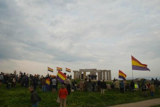 Acto conmemorativo da II República no emblemático Campo da Rata da Coruña.
