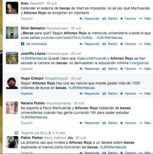 Algunas opiniones sobre las declaraciones de tertulianos habituales en los platós de televisión