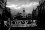 """""""Madrid será la tumba del Fascismo"""". Lema clásico en la defensa de Madrid (1936-1939) utilizado por la Columna de la Memoria Histórica"""
